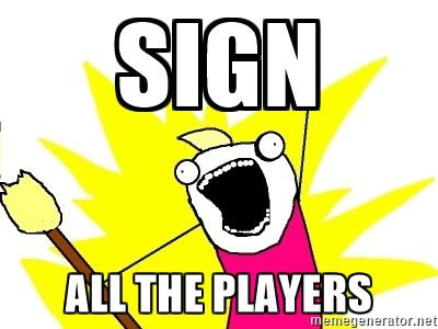 Sign all the players