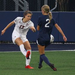 UConn's Chloe Landers #2 defends during the UMass Minutewomen vs the UConn Huskies at Morrone Stadium at Rizza Performance Center in an exhibition women's college soccer game in Storrs, CT, Monday, August 9, 2021.