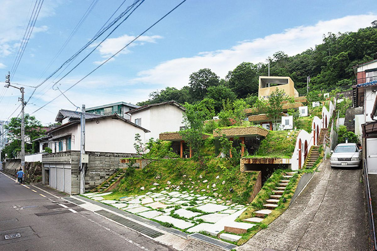 A Hobbit Style Apartment Building Rises In Japan Curbed