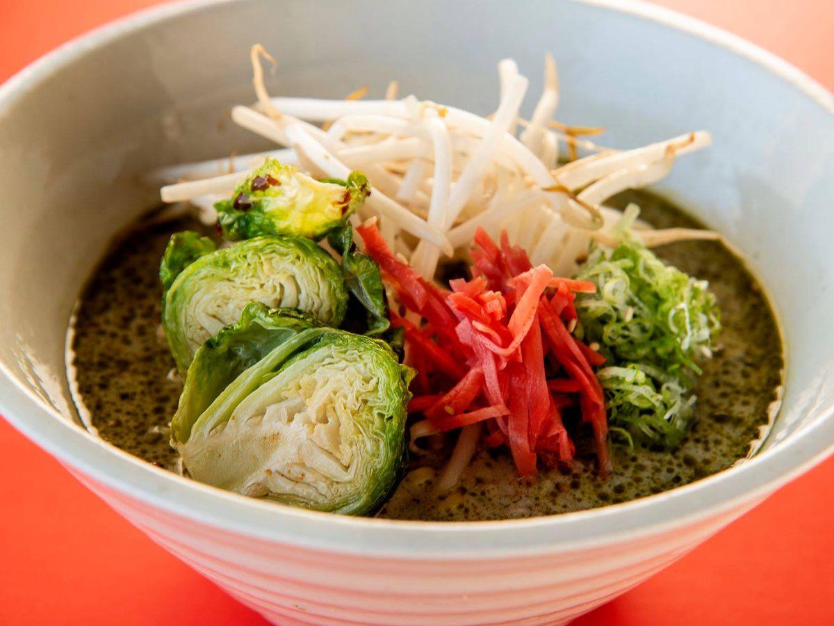 Bowl of veggie ramen