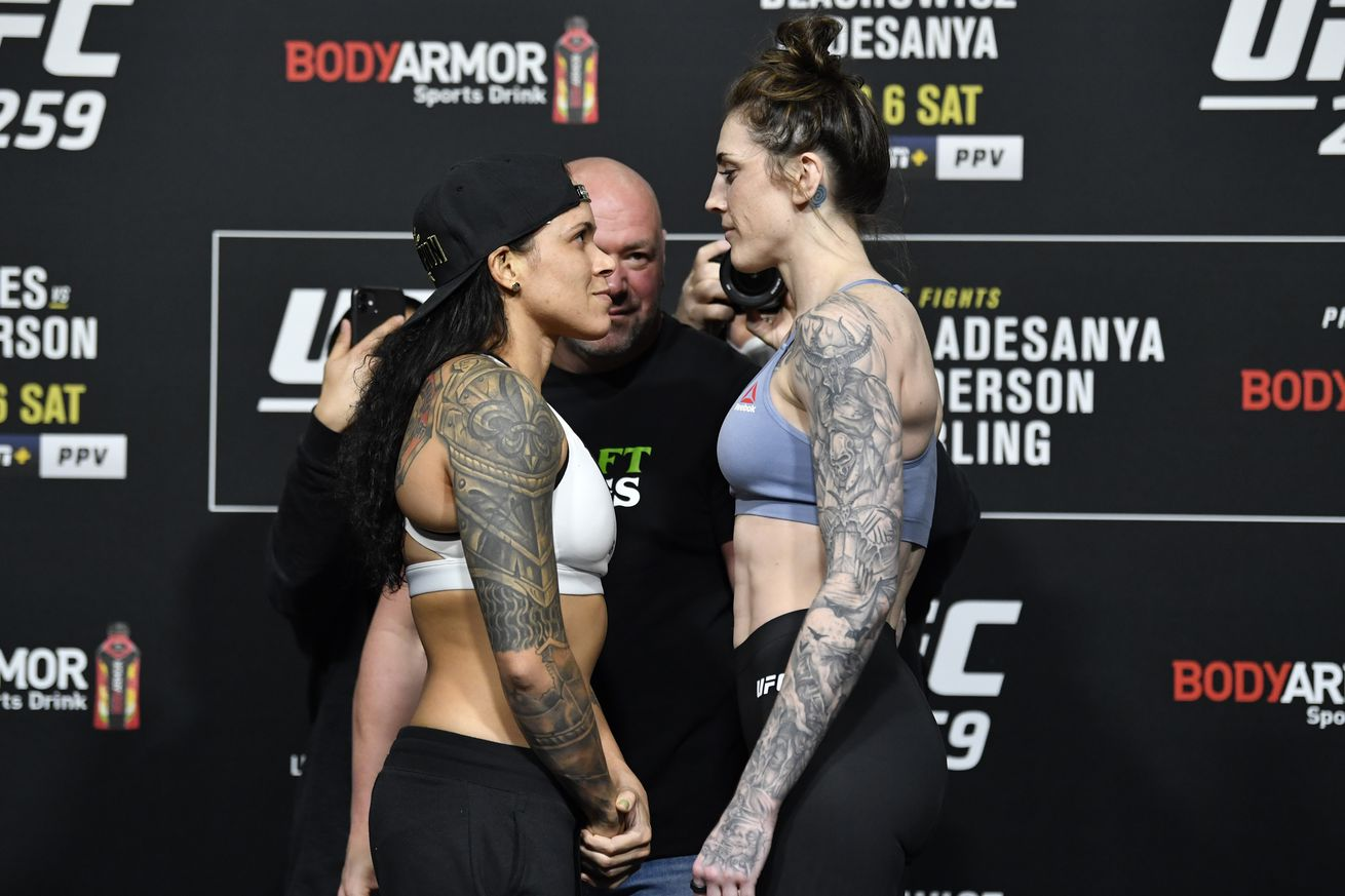 UFC 259 Blachowicz v Adesanya: Weigh-Ins