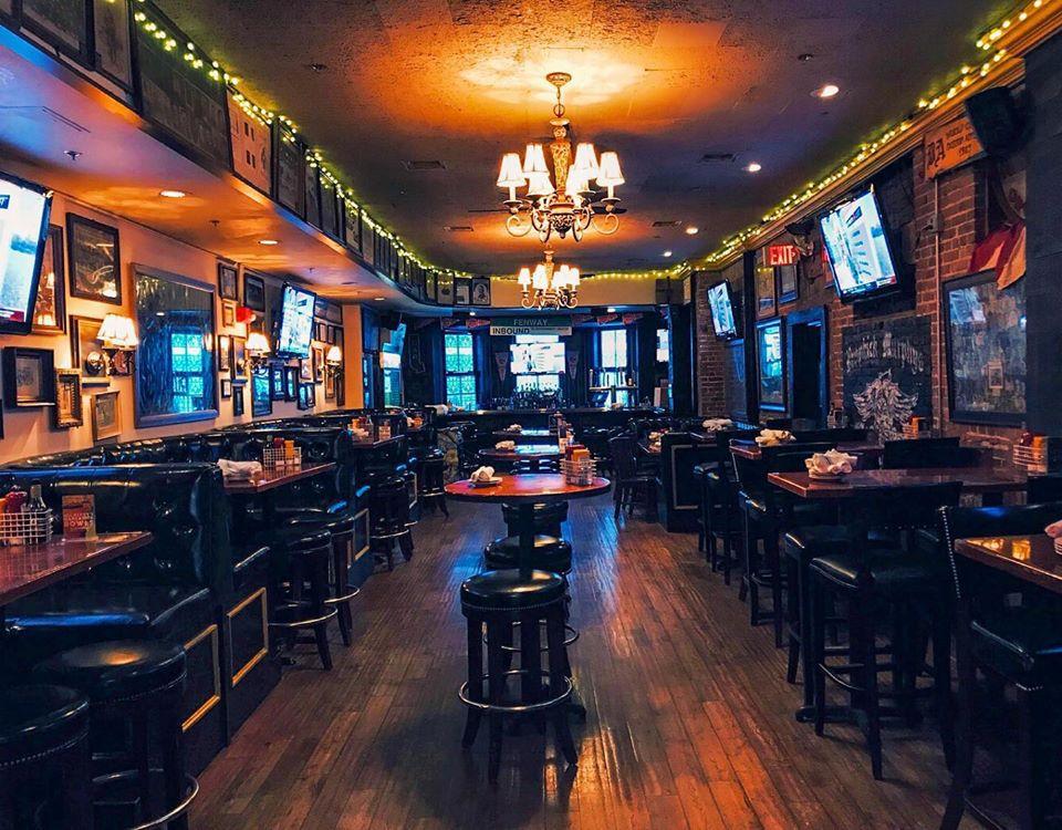 Empty interior of a sports bar