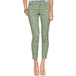 """<b>Gap</b> 1969 Floral Ankle-Zip Legging Skimmer Jeans in Green Floral, <a href=""""http://www.gap.com/browse/product.do?vid=2&pid=604152002"""">$69.95</a>"""