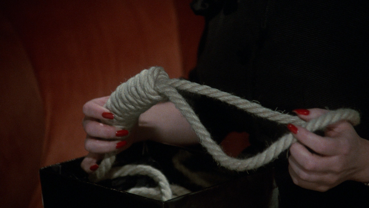 A noose in a woman's hands in Clue