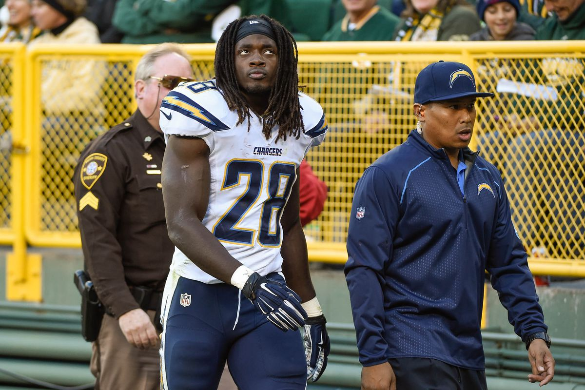 Injury News San Diego Chargers Rb Melvin Gordon Out Vs