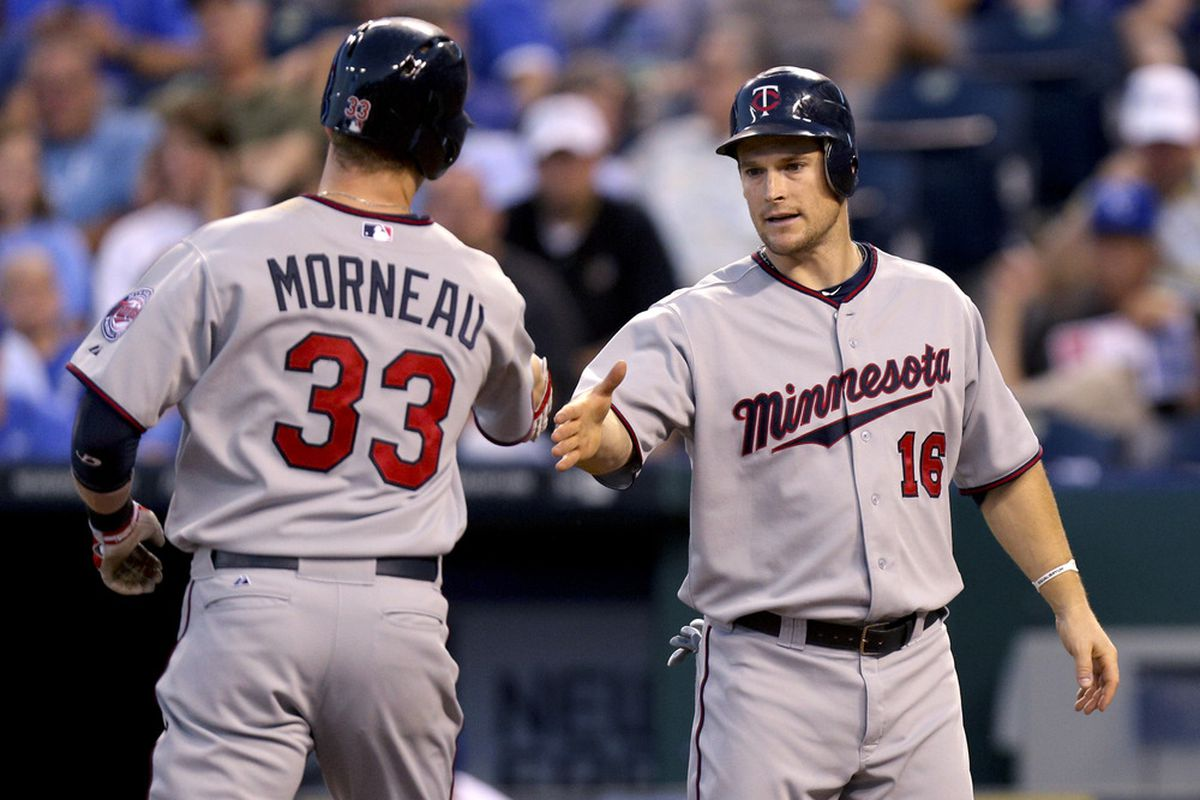 Morneau and Willingham have both homered tonight in Kansas City.