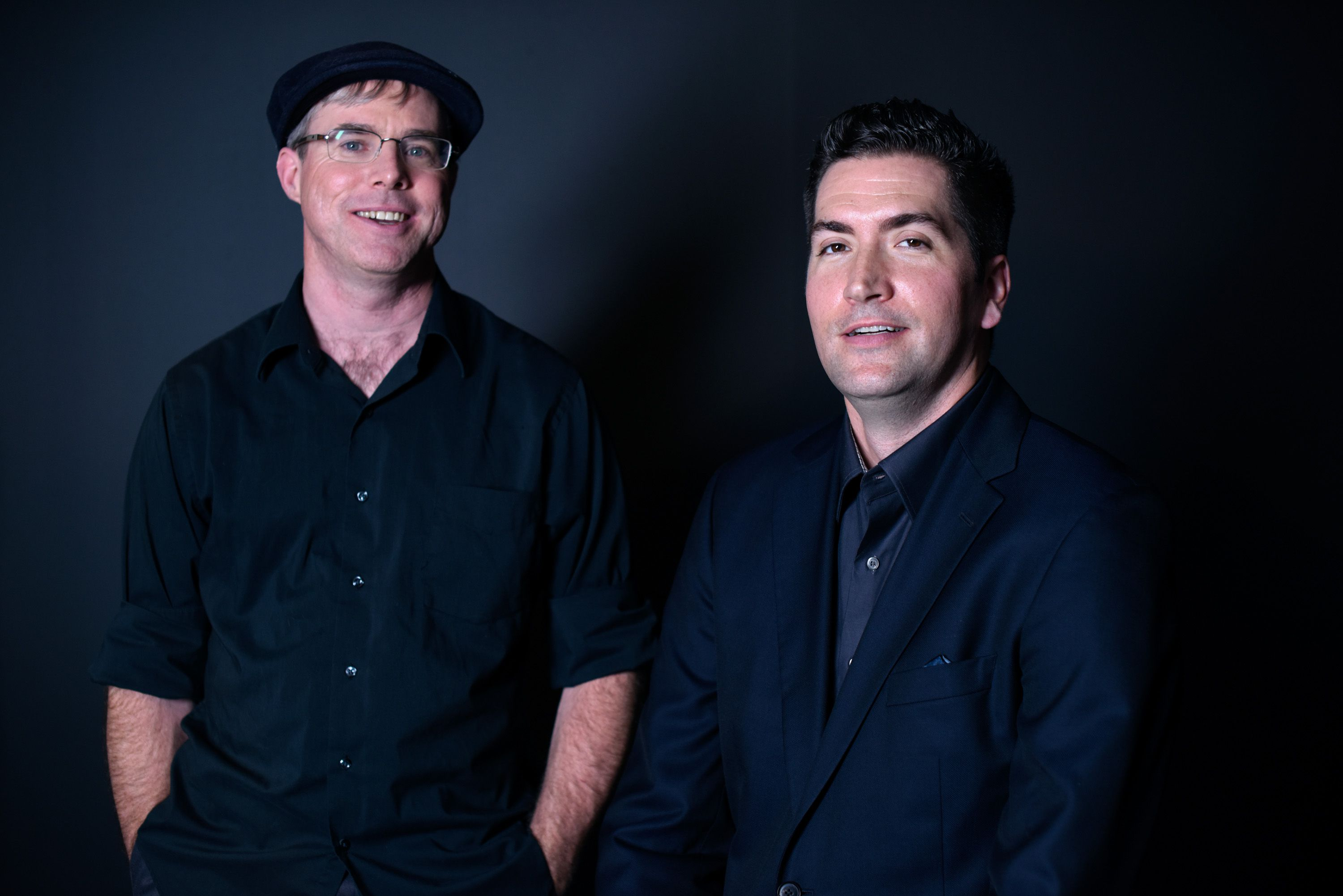 Andy Weir and Drew Goddard (GETTY IMAGES - DO NOT USE)