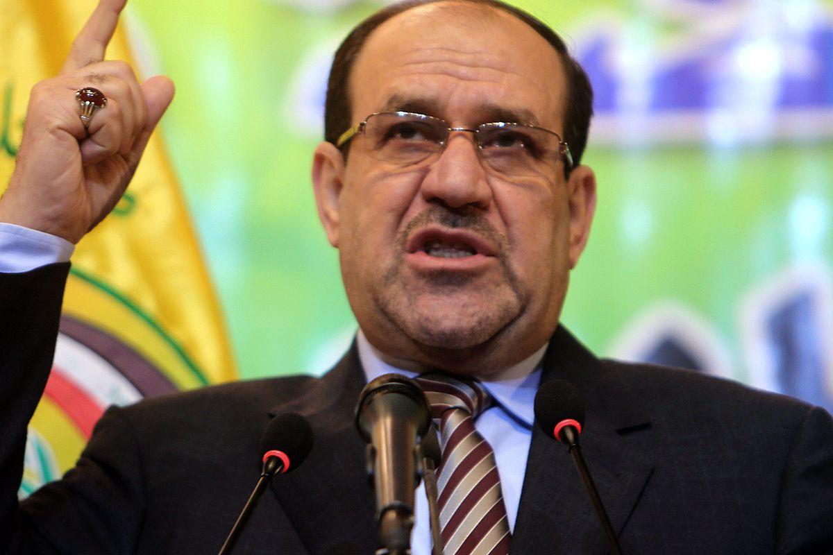 Maliki, speechifying.