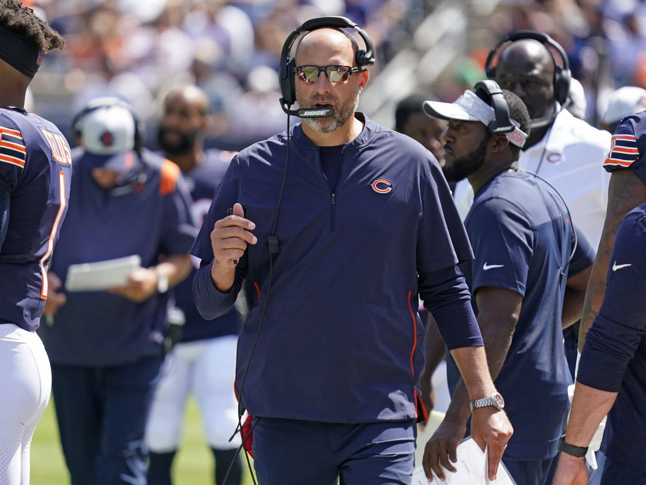 Matt Nagy is 28-20 as head coach of the Bears and has gone 0-2 in the playoffs.