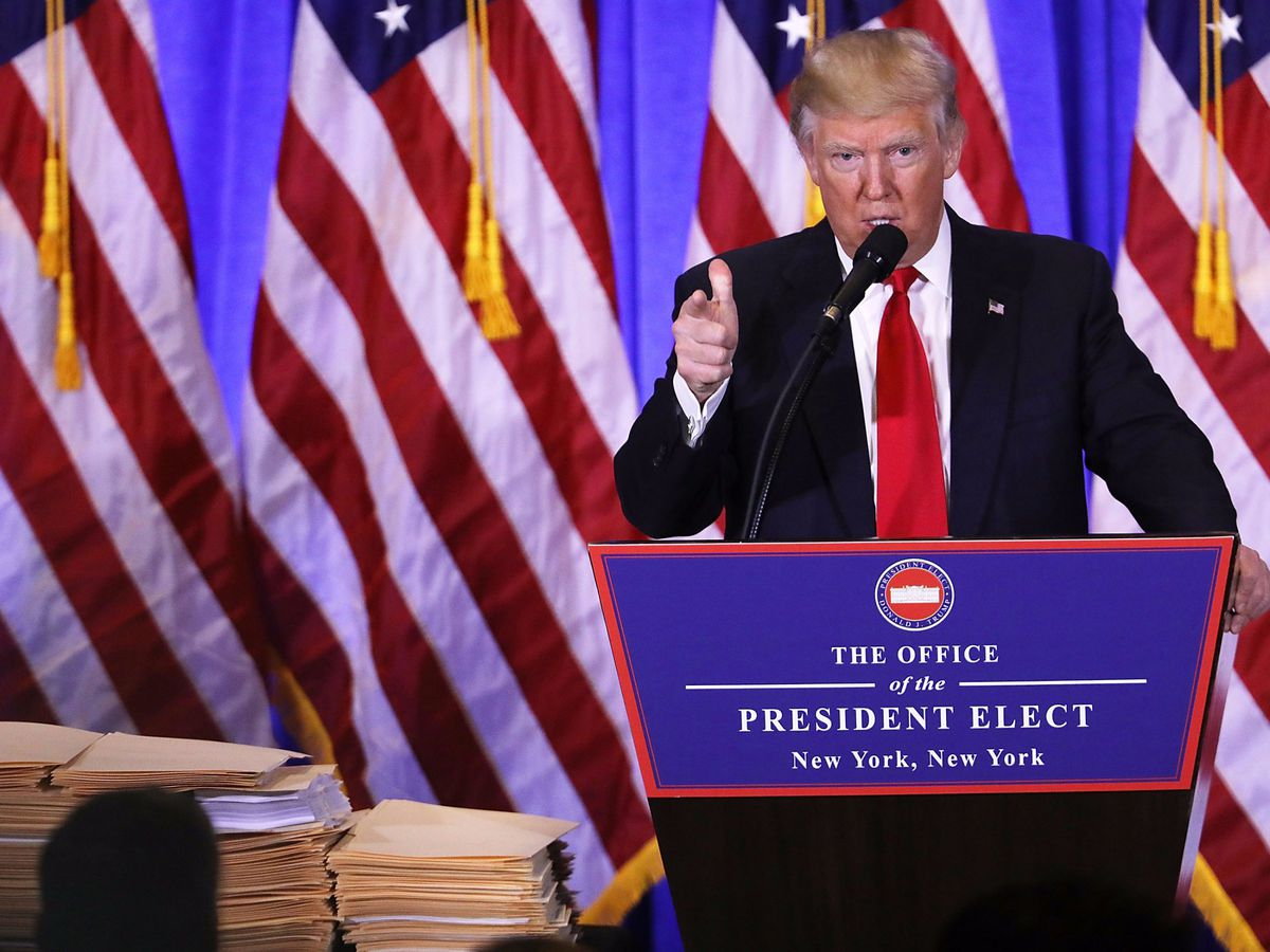 President-elect Trump, who shows a high level of antipathy toward an adversarial press.