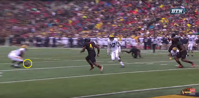 FF - Maryland - Rudock - Low Ball to Darboh