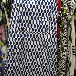 Woven dress, size 42, $120 (from $325)