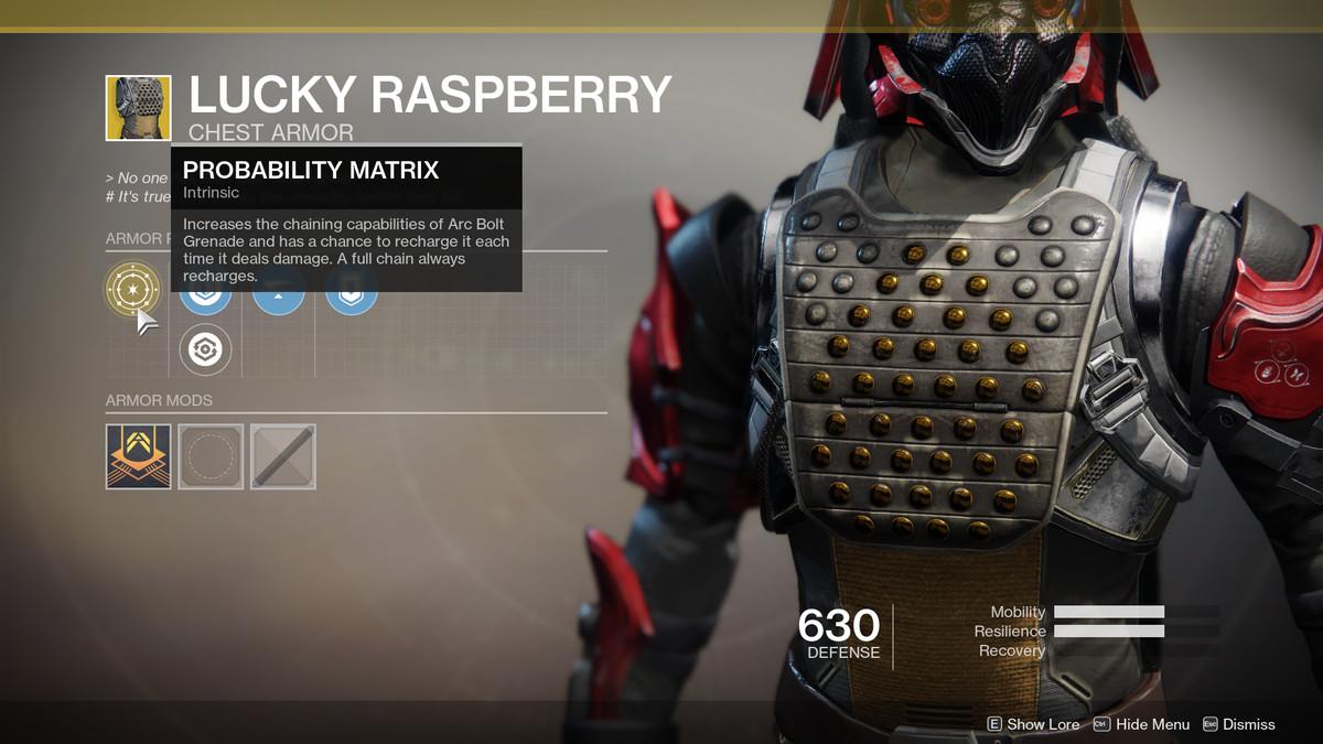 Lucky Raspberry Exotic Destiny 2