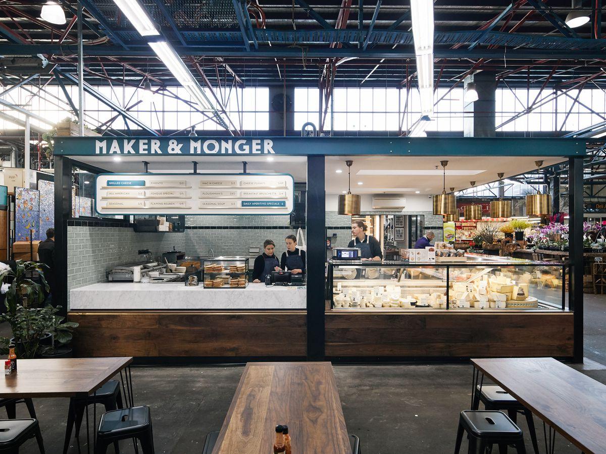 The cheese-focused Maker & Monger stall inside Prahran Market