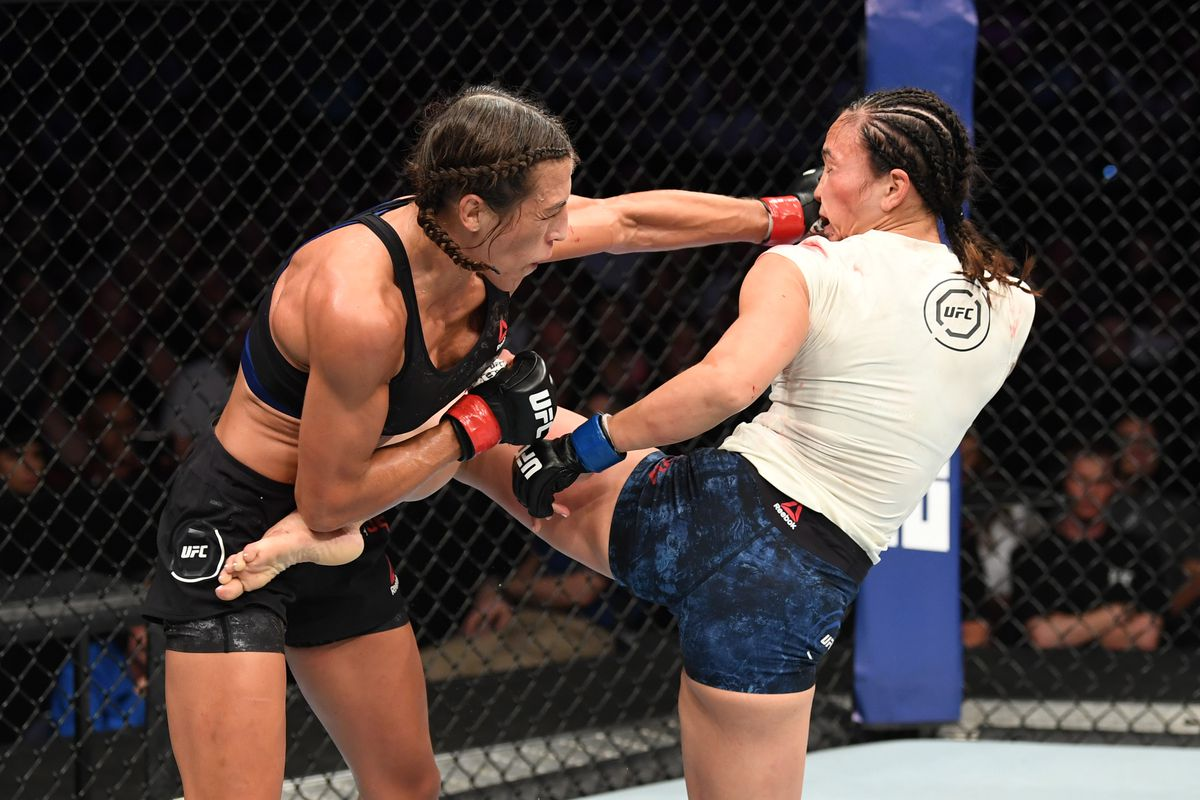 Joanna Jedrzejcyzk bloodies and beats up Michelle Waterson, calls for title shot following statement win
