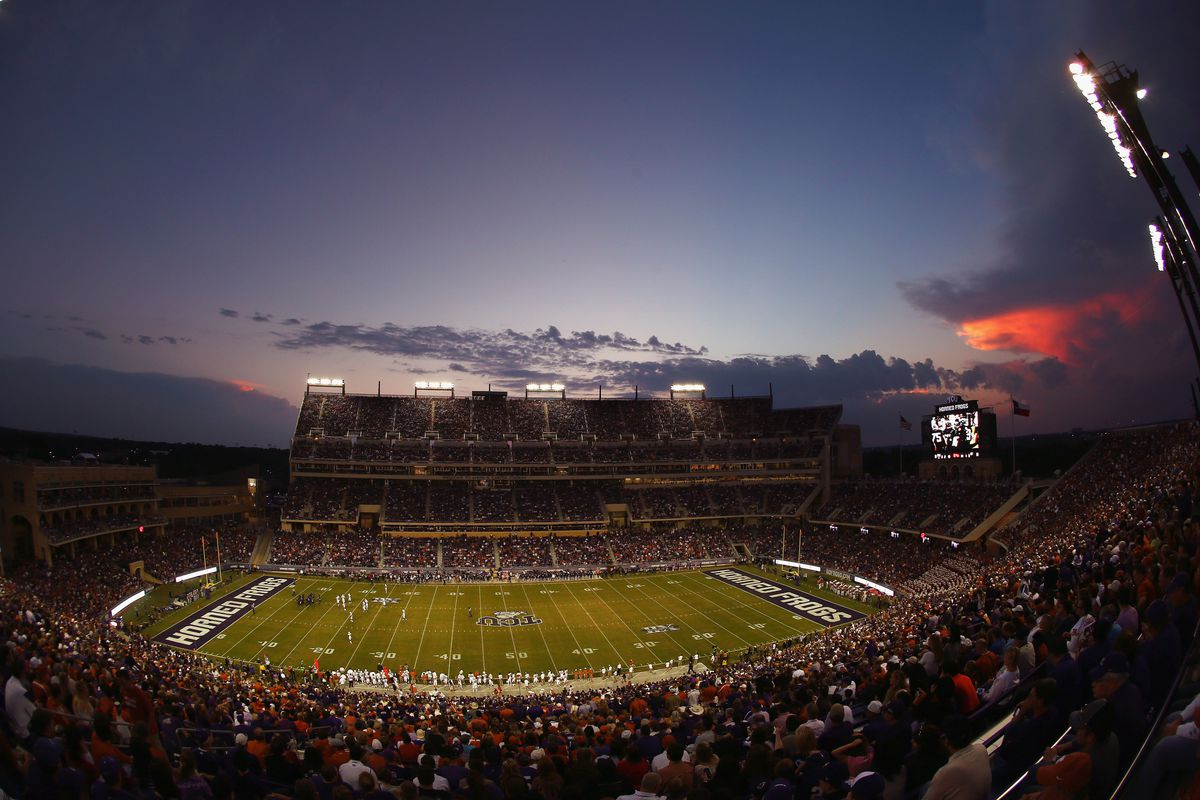 Frogs O' War covers all things TCU Sports (Amon G. Carter Stadium Shown Here)
