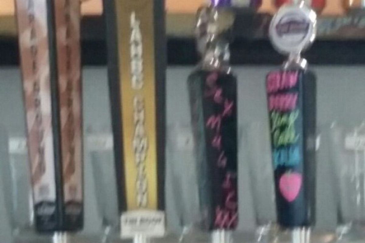 Some of the taps in Tin Roof's tap room.