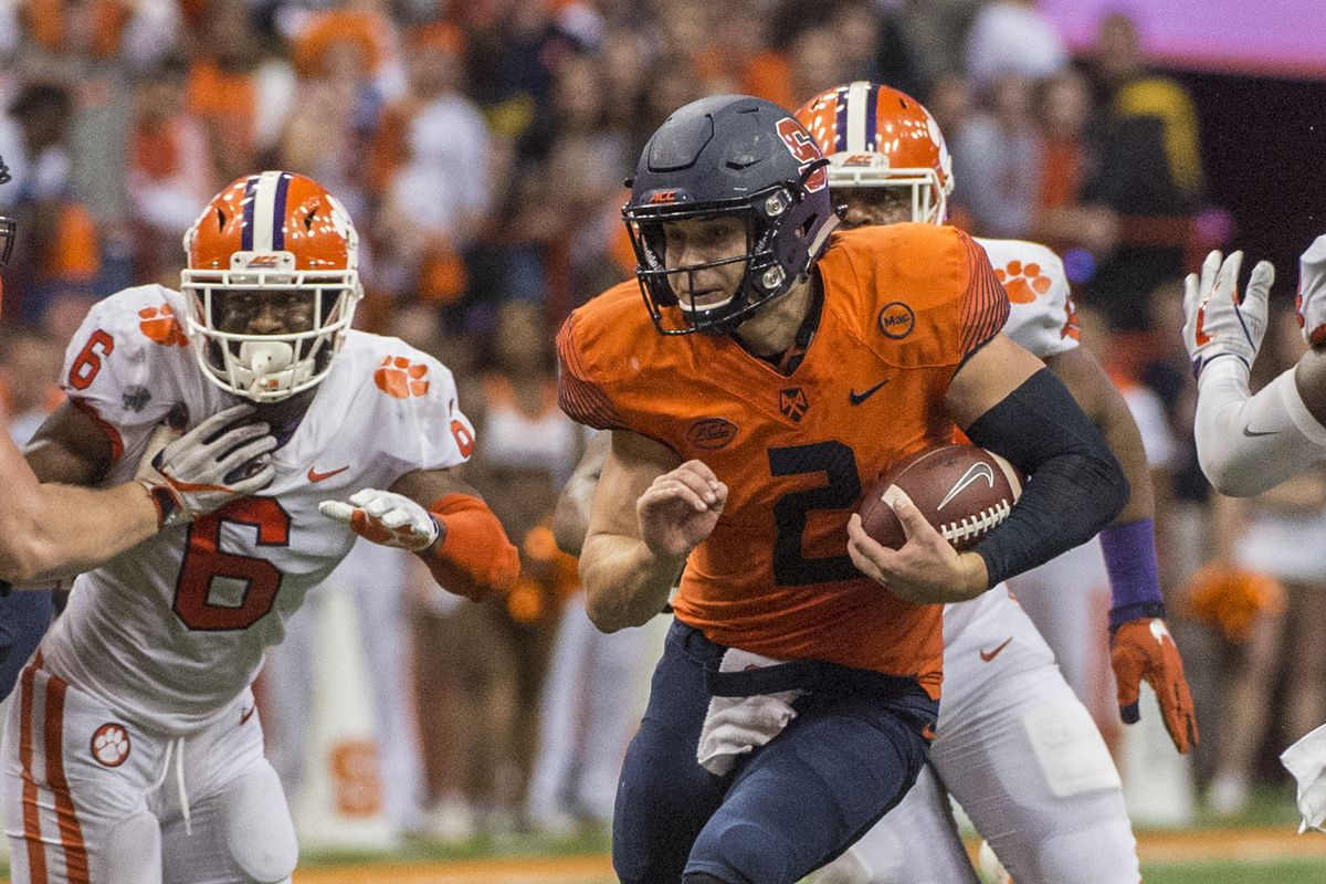 projecting syracuse football's 2018 tv schedule - troy nunes is an