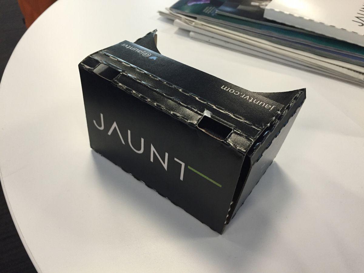 Here's what a $25 cardboard VR headset looks like.