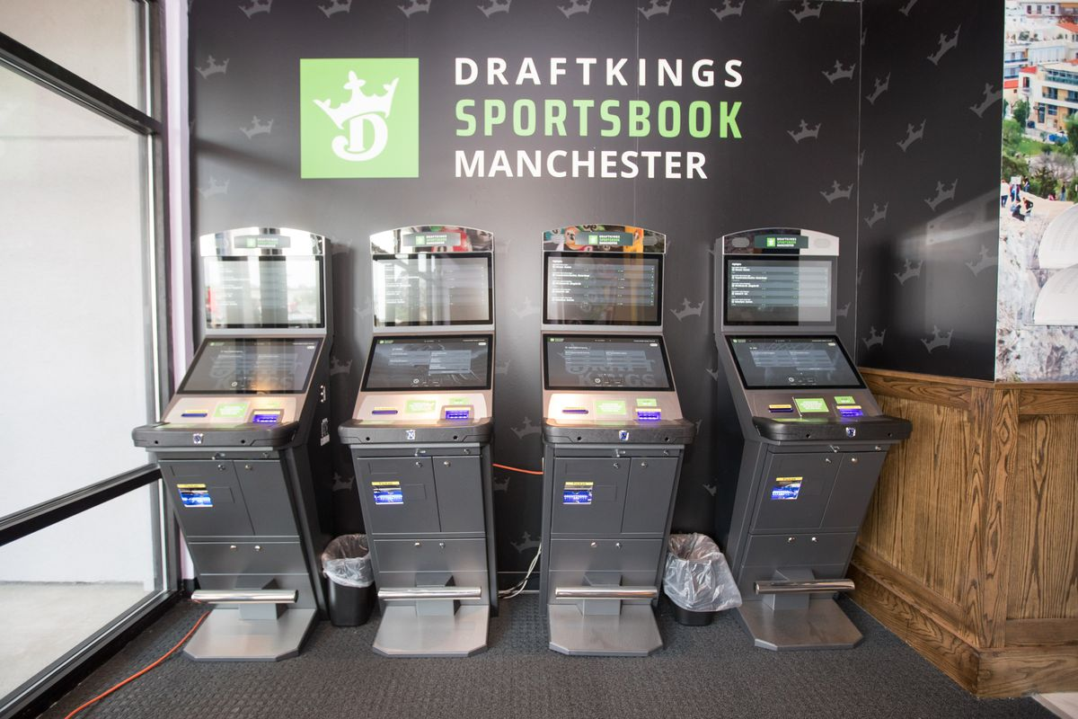 Interior views at DraftKings Sportsbook Manchester on September 2, 2020 in Manchester, New Hampshire.