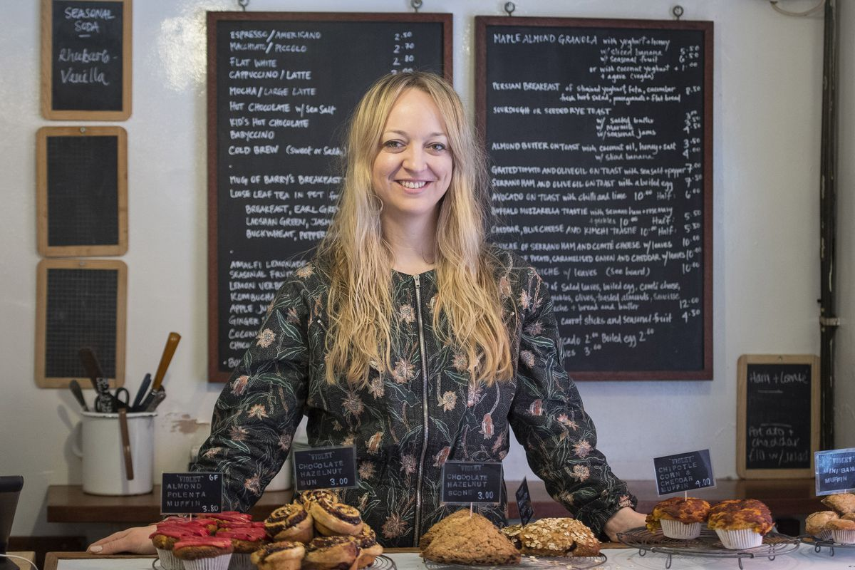 Baker Claire Ptak at Violet Bakery in East London