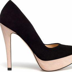 "<b>Zara</b> Two Tone Platform Court shoe, $89.90 at <a href=""http://www.zara.com/webapp/wcs/stores/servlet/product/us/en/zara-us-S2012/189510/630476/TWO%2BTONE%2BPLATFORM%2BCOURT%2BSHOE"">Zara</a>."