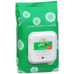 """Did you get all that makeup off? Are you sure? Try <a href=""""http://www.yestocarrots.com/product/facial-towelettes?product_id=1023"""">Yes to Cucumbers Sensitive Skin Facial Towelettes</a>, $5.99."""