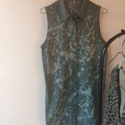 Erin Considine's vintage dress over dyed with indigo