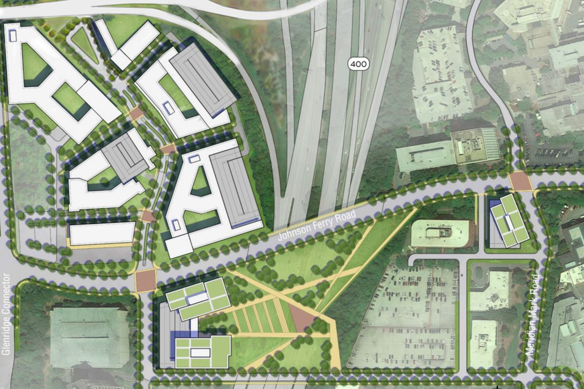 A preliminary plan of what the Sandy Springs park could look like.