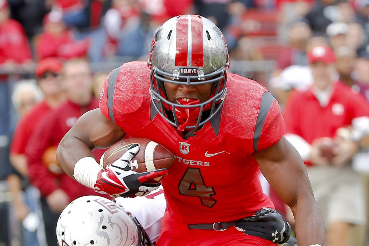 Leonte Caroo is Rutgers's leading receiver.