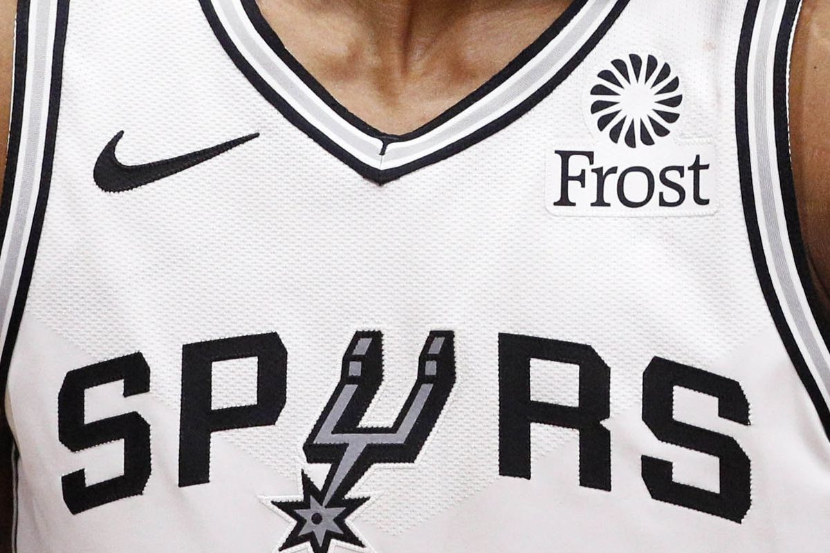 new arrivals 8bcf8 c54b0 Spurs jerseys sponsored by Front Bank - Pounding The Rock
