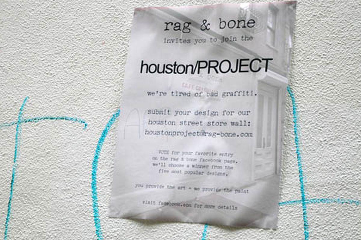 Rag & Bone's graffiti project flier via EssG/Racked Flickr Pool
