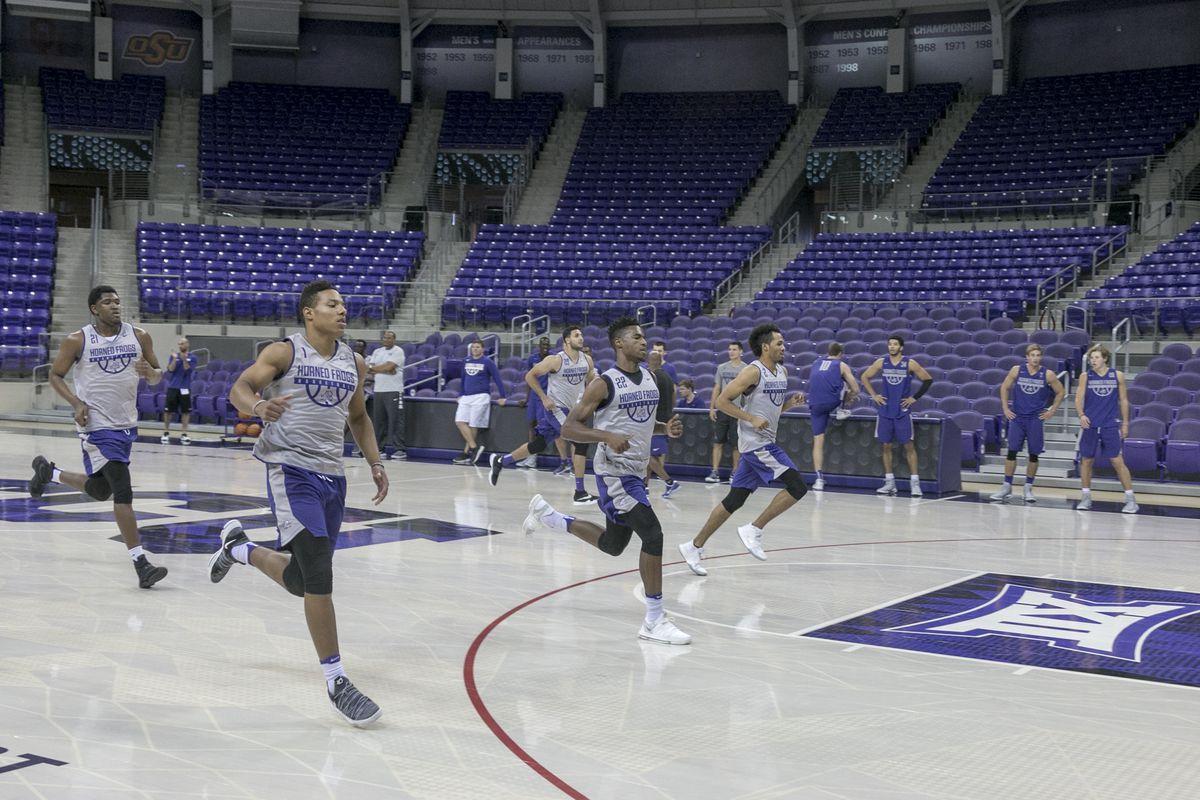 TCU Basketball first practice of 2017.
