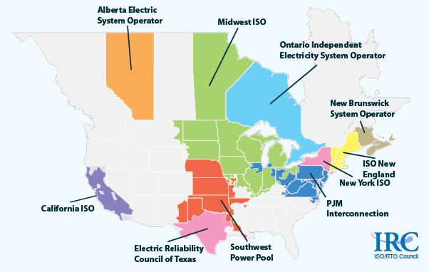 ISO & RTOs in north america
