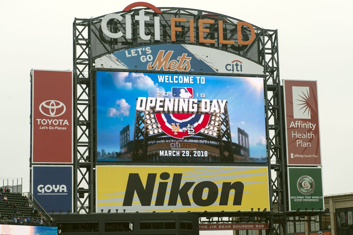 Image result for opening day citi field 2018