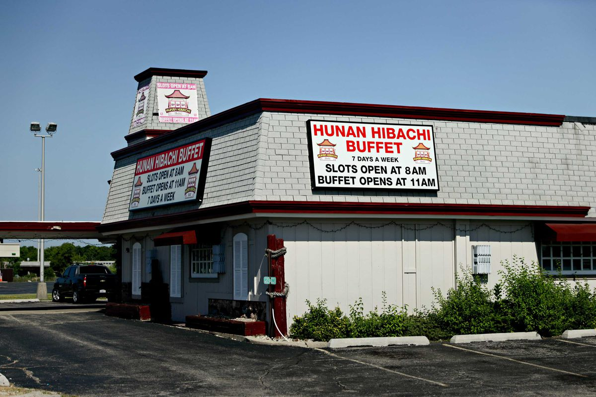 Hunan Hibachi Buffet, which hass video slots, is across from the site where Waukegan's new casino could be built.