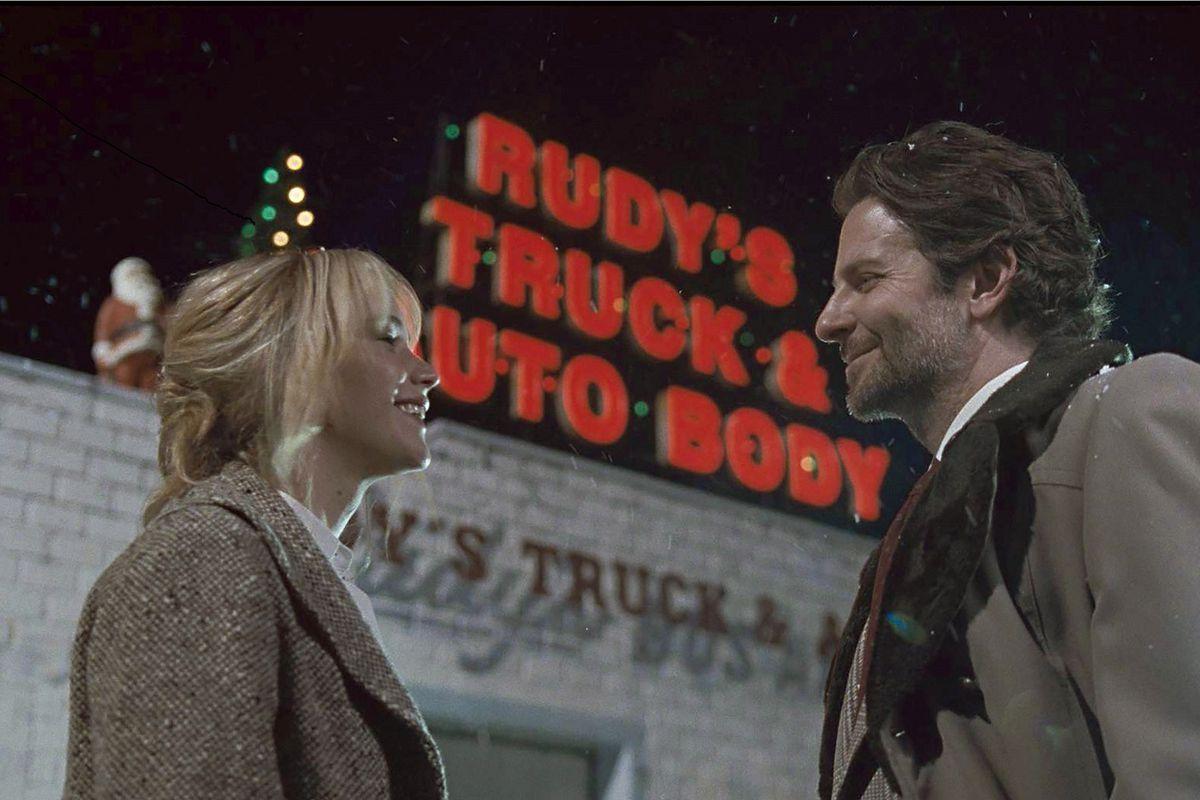 Jennifer Lawrence and Bradley Cooper star in Joy. (Okay, Lawrence stars. Cooper is in a few scenes.)