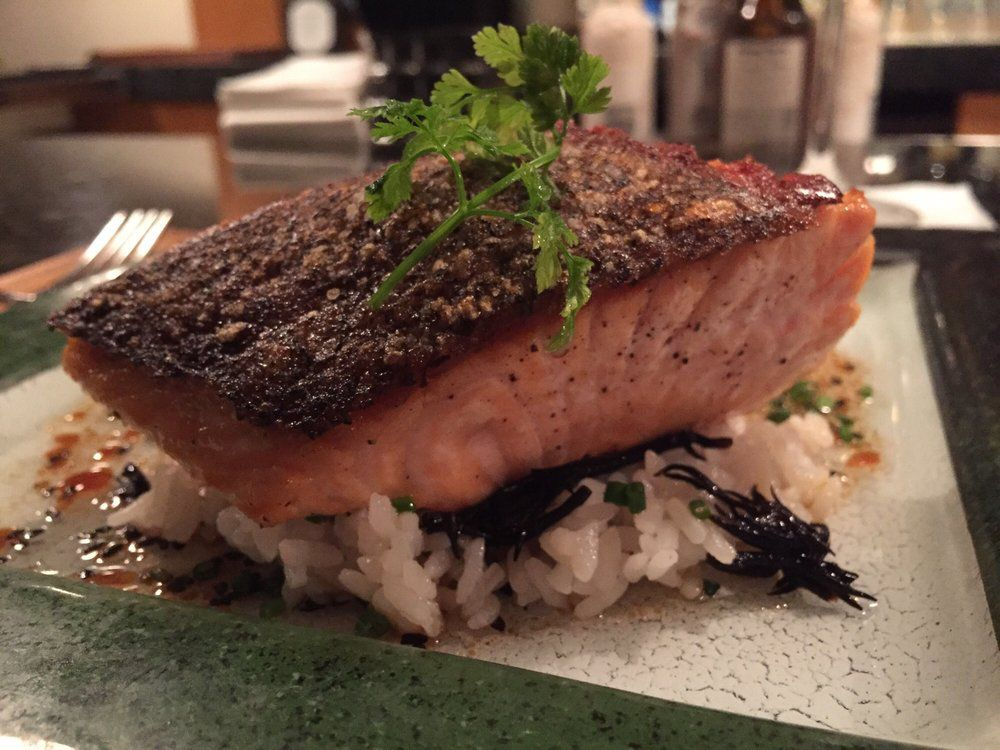 Salmon Over Rice At Corduroy Cyndy K Yelp