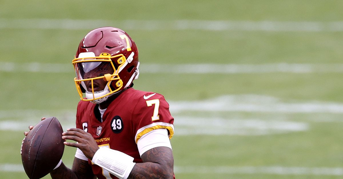 Alex Smith is not playing today;  Dwayne Haskins Jr. starts but has no future in Washington