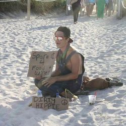 Hippie trying to score tickets to Grand Tasting Village