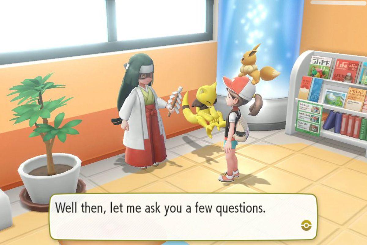 A fortune teller in Pokémon: Let's Go!