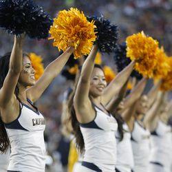 Cal's cheerleaders.