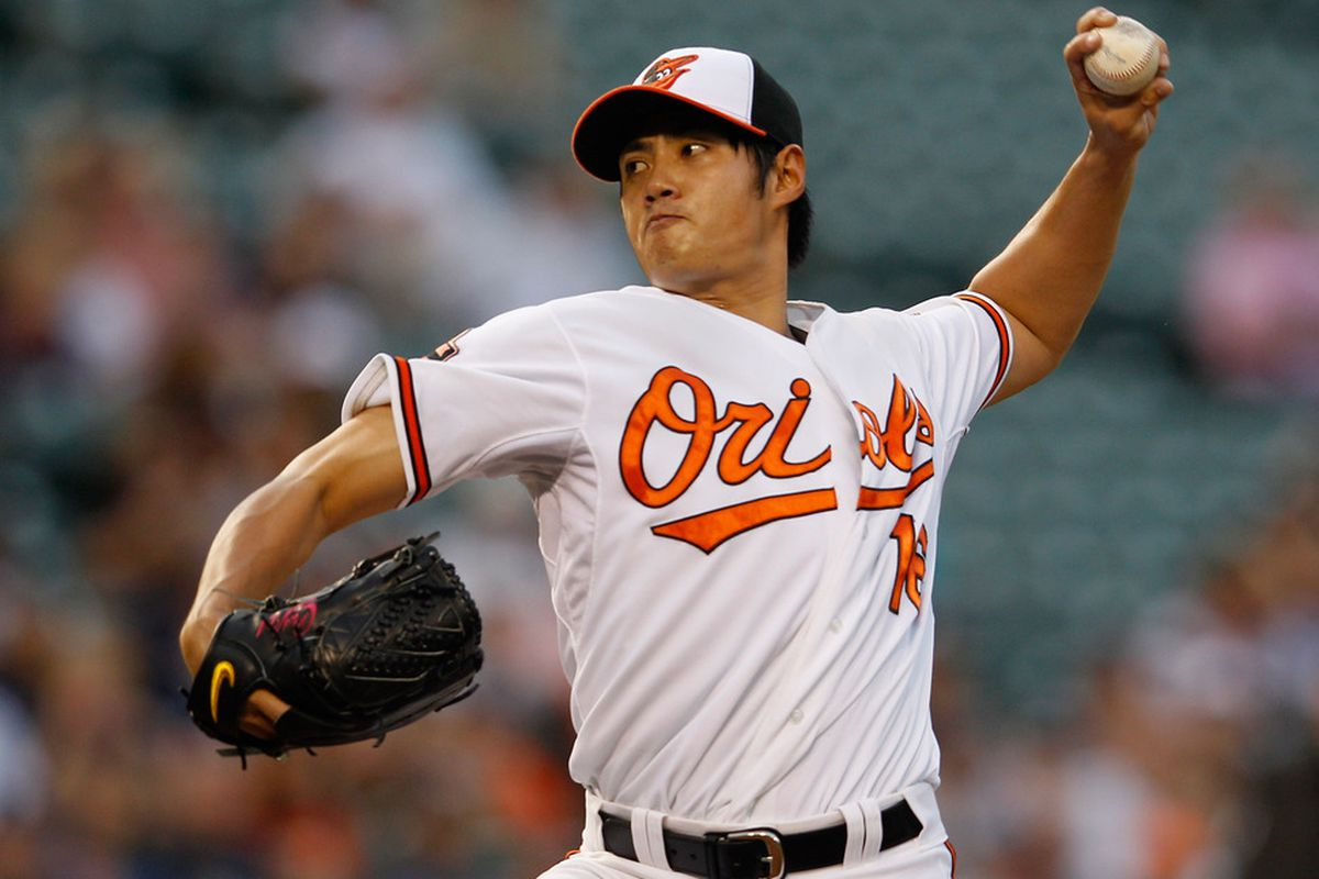Former Chunichi Dragon Wei-Yin Chen will be looking to outduel MLB's equivalent of an actual dragon - Stephen Strasburg.  (Photo by Rob Carr/Getty Images)