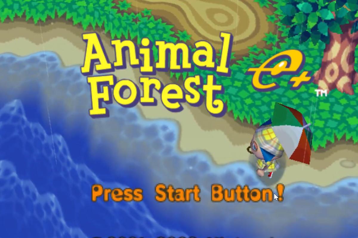Animal Crossing e+ title screen