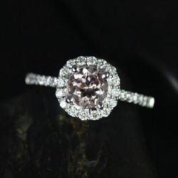 """This white-gold Etsy finds comes from a local seller and looks just as elegant as its pricier competitors. $925, <a href=""""http://www.etsy.com/listing/113065965/badillo14kt-white-gold-classic-morganite?ref=sr_gallery_13&ga_locationQuery=4887398&ga_search_q"""