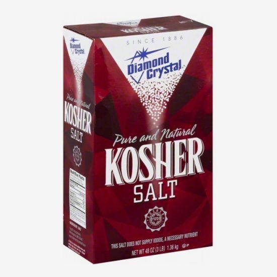 A box of Diamond crystal kosher salt