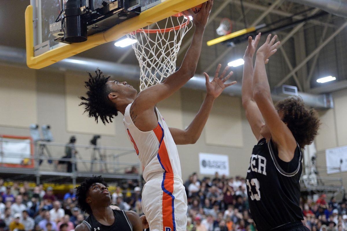 High School Basketball: Hoophall West Tournament-Bishop Gorman vs Denton Guyer