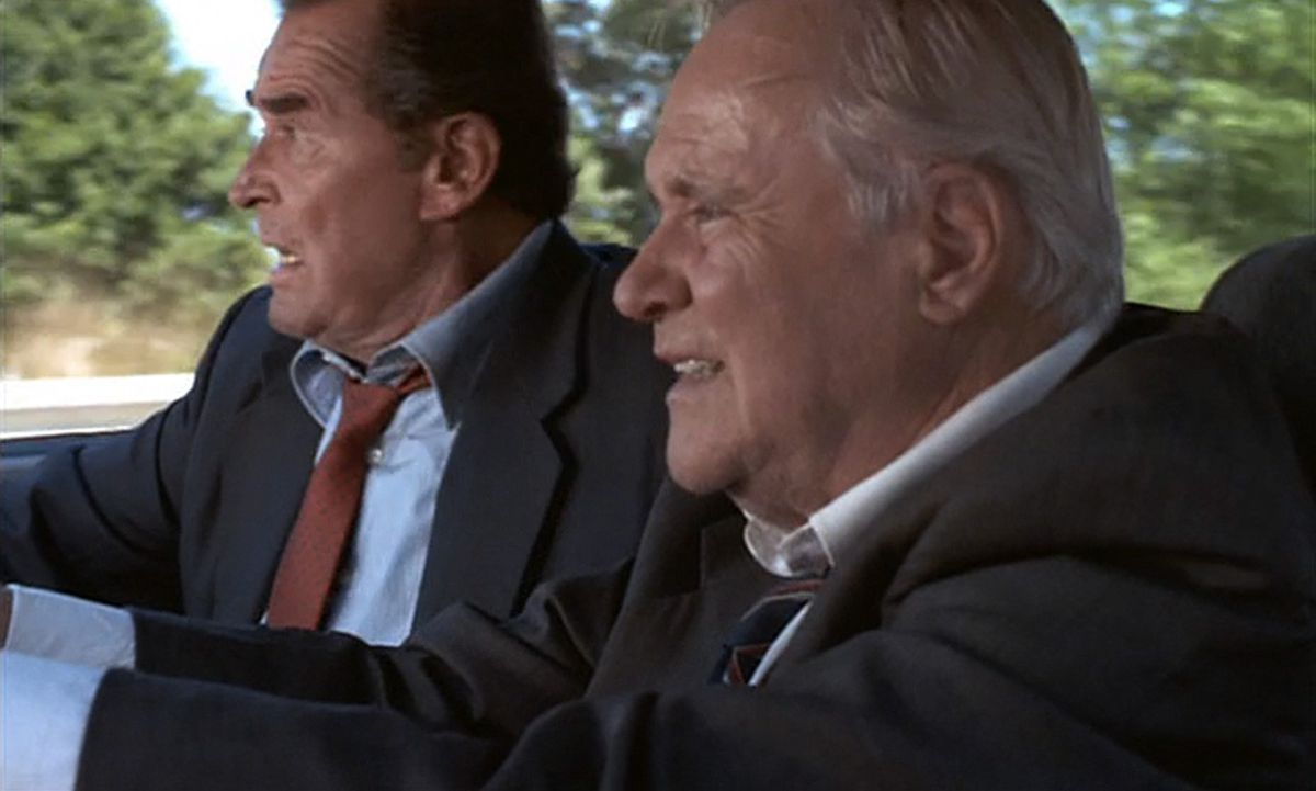 James Garner and Jack Lemmon on a road trip to save the world.
