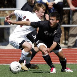 Lucas Cawley, right, showed off his talents as a freshman at Viewmont last year. He's now at the RSL-Arizona Academy.