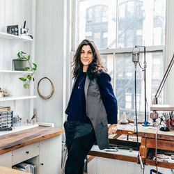 """<b>The Designer:</b> <a href=""""http://ny.racked.com/archives/2014/03/14/gillian_steinhardt.php"""">Gillian Steinhardt</a> <br><br> <b>The Look:</b> """"I have my mood board with images that inspire and excite me. Faces, hands, art deco architecture, details of"""